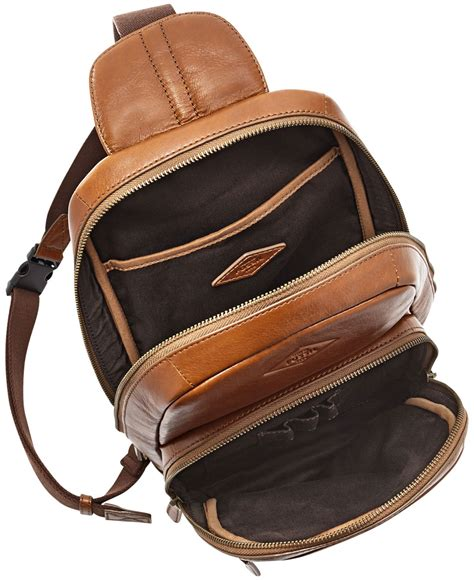 Mickship Roop Sling fossil mick leather slingpack backpack in brown for lyst