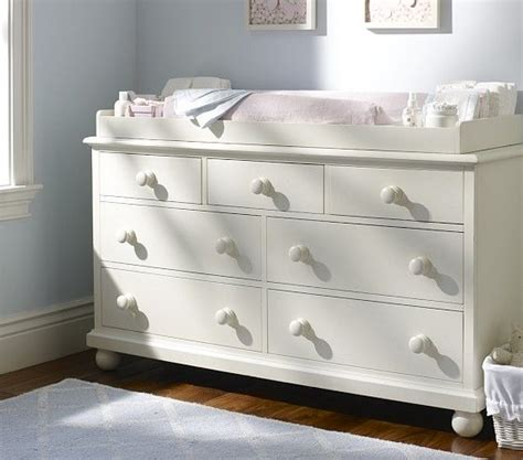 pottery barn dresser baby catalina extra wide dresser changing table topper set