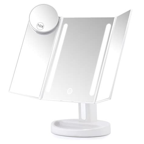 lighted 10x magnifying makeup mirror herwiss lighted vanity makeup mirror with 10x magnifying