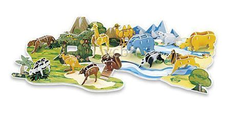 3d Puzzle Robotime Post Office In The Forest F108 3d puzzle cubic animal forest 12 animals diy wholesale 3d puzzle cubic animal forest