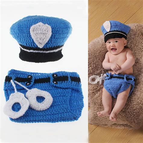 Blue Gypsea Crochet 1 design newborn photography props navy blue crochet baby beanie hat with cover