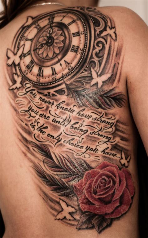 clock and rose tattoos best 25 clock tattoos ideas on time