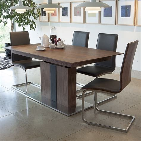 extendable dining sets angelo extendable dining table in walnut with 4 dining