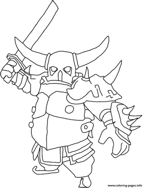 how to print in coloring book mode pekka attack mode clash of clans coloring pages printable