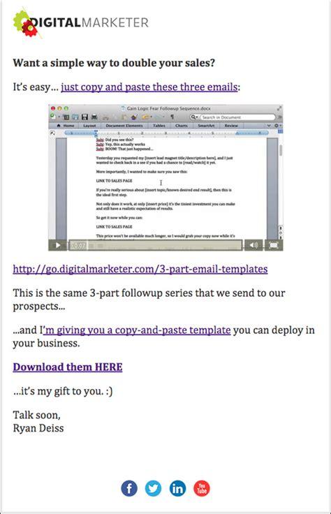 Swipe Digital Marketer S Best Email Body Copy Email Swipe Templates
