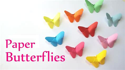 How To Make Butterflies Out Of Construction Paper - diy crafts paper butterflies easy innova crafts
