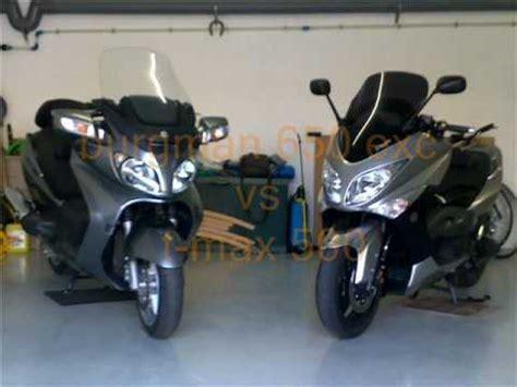Suzuki Burgman 400 Vs 650 Comparativa Burgman 650 Exc Vs T Max 500