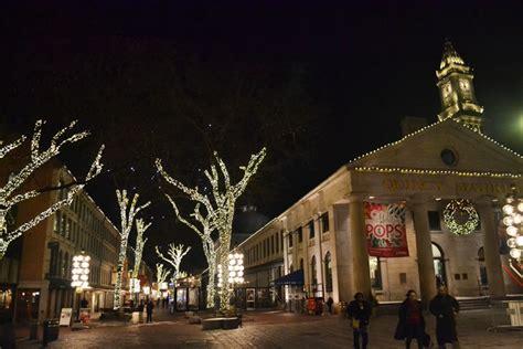 christmas tree boston quincy market a season visit to boston yankee magazine