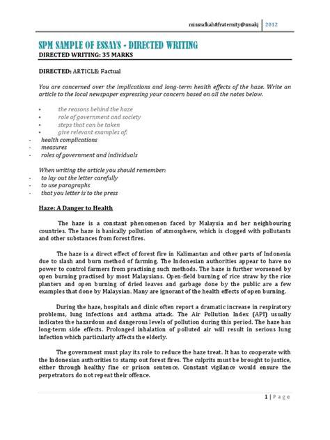 Complaint Letter Format Spm Spm Sle Of Directed Writing Essays