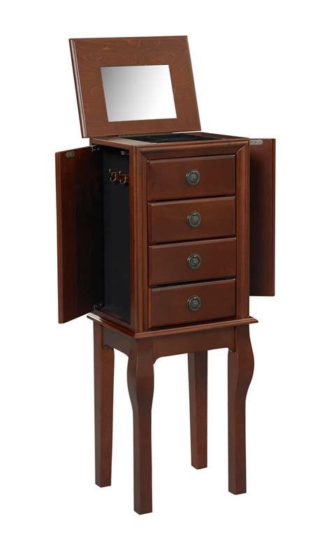 jewelry armoire espresso diamond espresso finish jewelry armoire