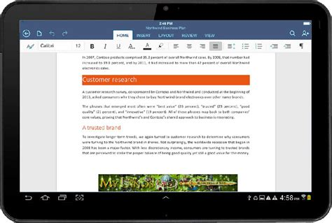microsoft office 365 for android tablet microsoft office et outlook d 233 barquent sur android phonandroid