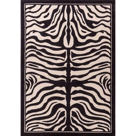 animal rugs well woven dulcet zebra ivory 5 ft x 7 ft 2 in animal print area rug 18025 the home depot