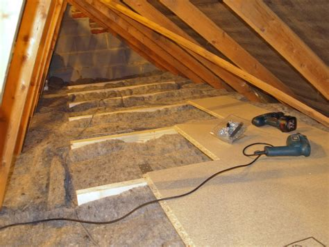 Vaulted Ceiling Open Floor Plans by Diy Loft Attic Insulation With Over Boarding For Storage
