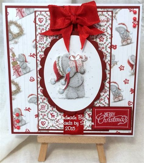 Handmade Teddy Cards - tatty teddy handmade card using products from trimcraft x