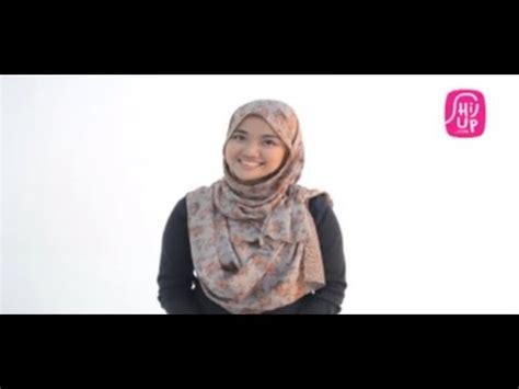 tutorial jilbab pashmina purple styles by ellen elyashazleen simple style shawl funnydog tv