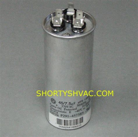 carrier furnace blower motor capacitor carrier dual run capacitor p291 4573rs p2914573rs 38 00 shortys pumps division of