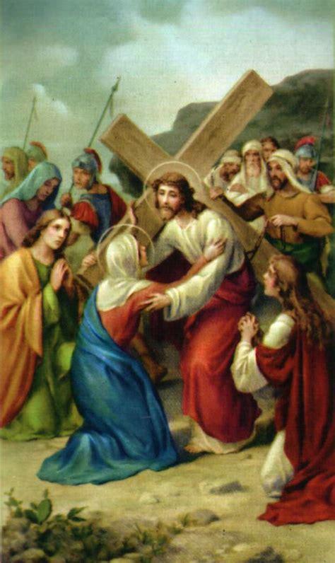 imagenes de la virgen maria en el viacrucis via crucis meditado reina del cielo