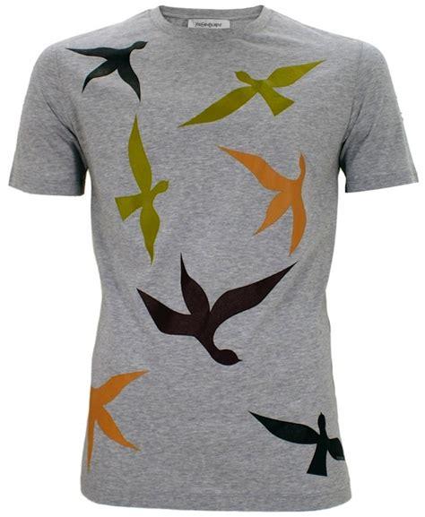 Tshirt Bird Classic Logo 2klife net yves laurent fall 2011 bird print t shirts