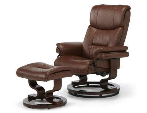 Faux Leather Recliner Chair by Spencer Chestnut Brown Faux Leather Recliner Chair