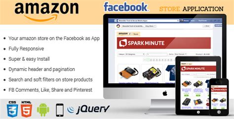 php script codecanyon facebook amazon store application