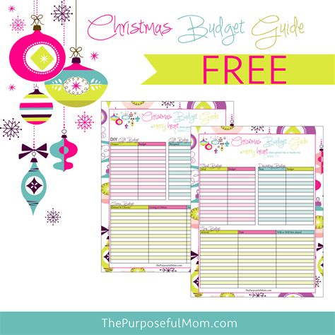 free printable planner for moms free printable christmas budget planner the purposeful mom