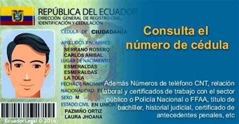donde votar consulta la cedula de ciudadania de colombia consultar n 250 mero de c 233 dula de identidad ecuadorlegalonline
