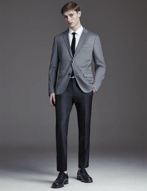 light grey suit vest light grey blazer with black pants national milk