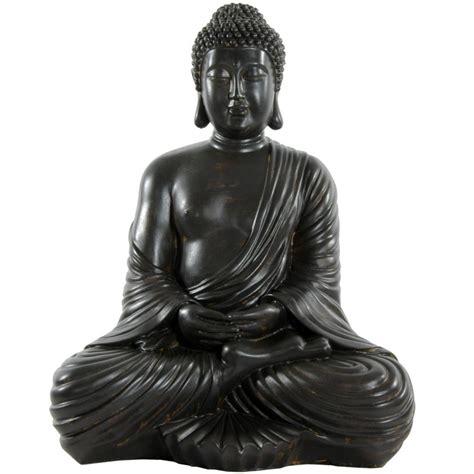 oriental furniture 17 quot large japanese sitting buddha statue ebay