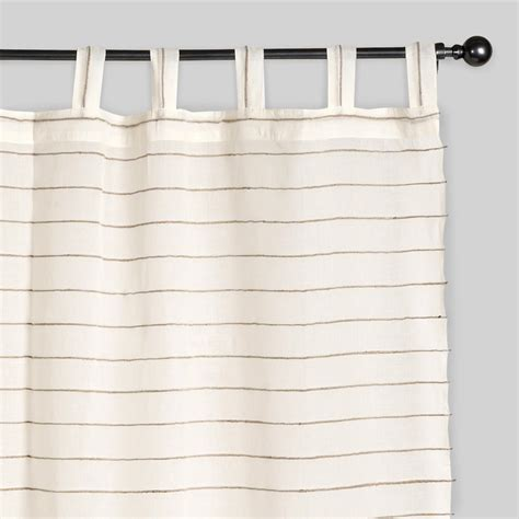 jute drapes ivory striped sahaj jute curtains set of 2 world market