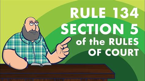 section 5 rule 113 of the rules of court evidence rule 134 section 5 of the rules of court youtube