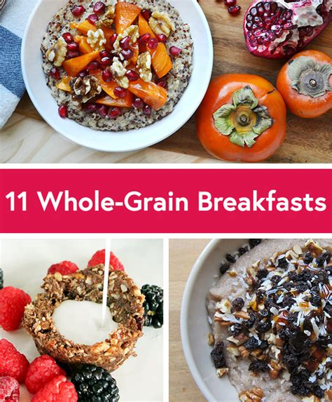 whole grains for breakfast 11 healthy whole grain breakfast recipes