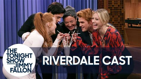 madelaine petsch on jimmy fallon the cast of riverdale and jimmy kick off the riverdale
