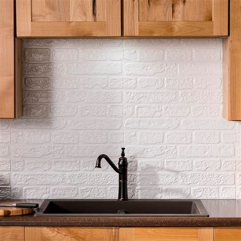 fasade kitchen backsplash fasade brick 24 25 in x 18 25 in vinyl backsplash in