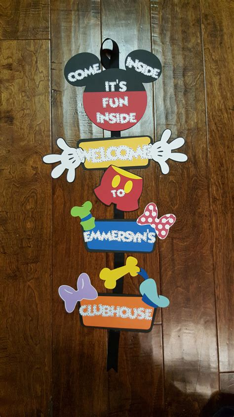 Mickey Mouse Door by Mickey Mouse Clubhouse Name Front Door Sign