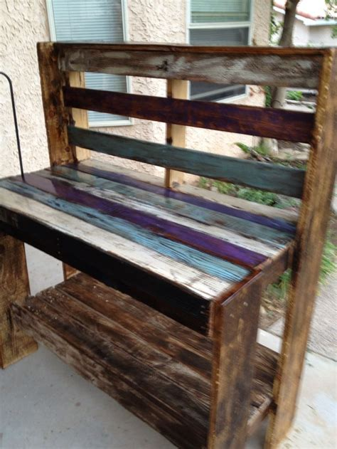 potting bench from pallets pallet potting bench yep pinterest