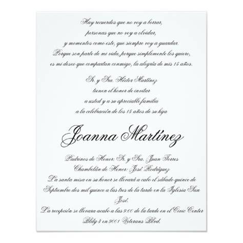 templates for 5 5 x 4 25 invitations quinceanera invitations in spanish 4 25 x 5 5 zazzle