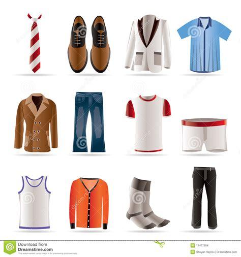 imagenes de ropas manera del hombre e iconos de la ropa imagenes de archivo