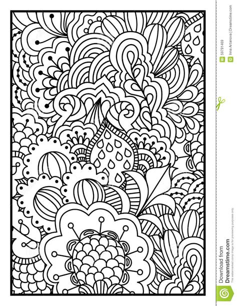 black and white background for coloring book stock vector