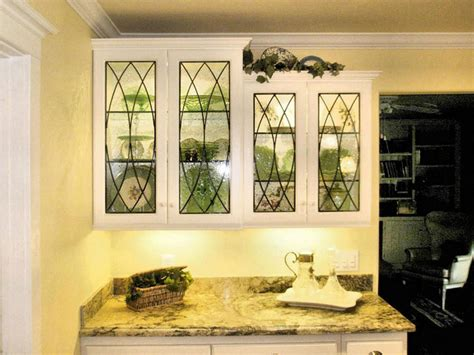 leaded glass for kitchen cabinets leaded glass cabinet inserts for poulos residence