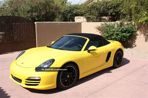 Porsche Boxster 2014 by Porsche Boxster 2014 Yellow Www Imgkid The Image
