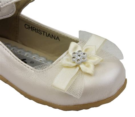 flower shoes ivory toddler infant baby ivory christening wedding flower