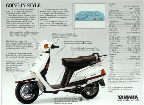 yamaha riva 125 motor scooter guide