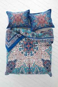 plum bow dandeli medallion duvet cover