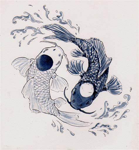 yin yang koi tattoos yin yang koi fish tatto koi fish