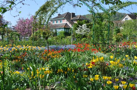 Monet Flower Garden Giverny Overview Jpg
