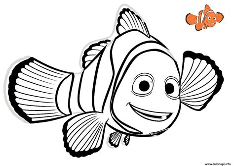 Coloriage Nemo 2 Poisson Rouge Disney Dessin