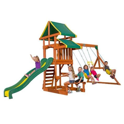 Backyard Discovery Tucson Cedar Wooden Swing Set by Backyard Discovery Tucson Wooden Swing Set Academy