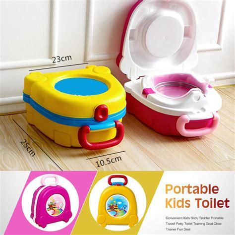 Potty Seat With Handel Toilet Anak Bundacantiq kid baby toddler toilet portable seat travel potty pot chair sale banggood