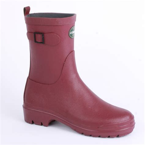 le chameau low boot womens wellington boots in wine