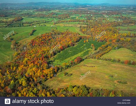 loudoun county virginia usa aerial of fragmented